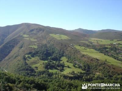 Ruta de senderismo --- Parque Natural Saja-Besaya; licencia montaña; madera tejo